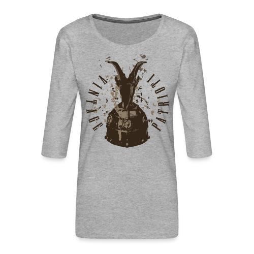 Patrioti Vintage Skenderbeg - Frauen Premium 3/4-Arm Shirt