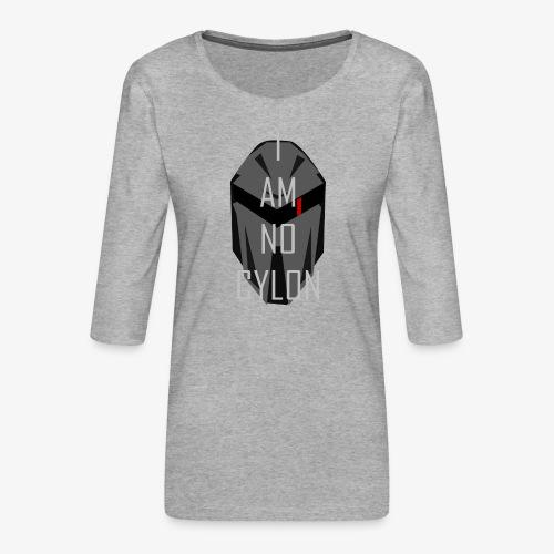 I am not a Cylon - Premium T-skjorte med 3/4 erme for kvinner