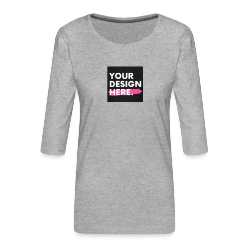 Custom-made - Premium-T-shirt med 3/4-ärm dam