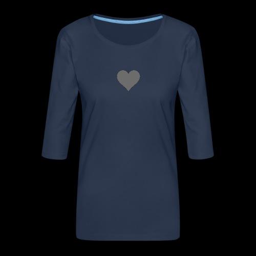 hearth design tee - Dame Premium shirt med 3/4-ærmer