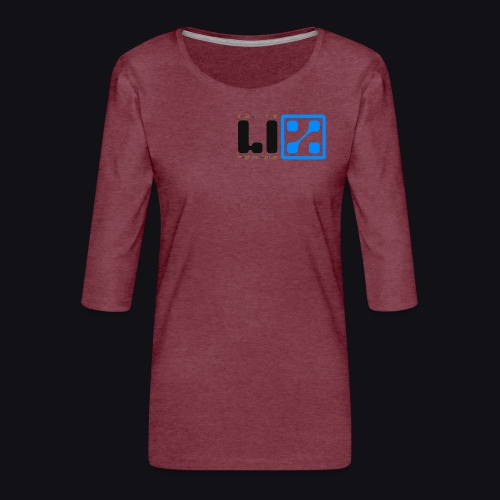 LIZ Before the Plague (Logo) - Maglietta da donna premium con manica a 3/4