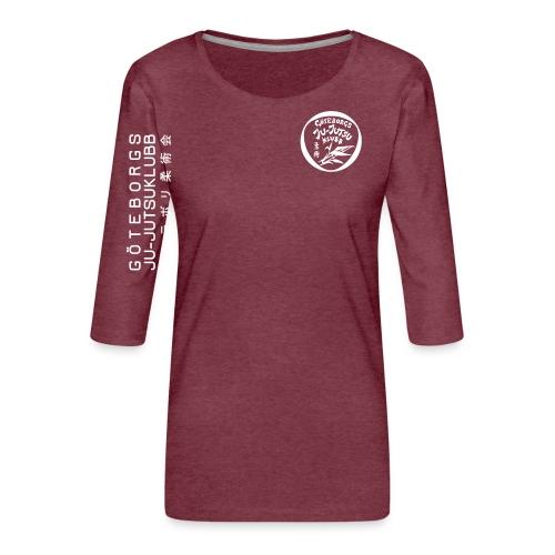 rygg centrerad tshirt hoodjacka troeja - Premium-T-shirt med 3/4-ärm dam