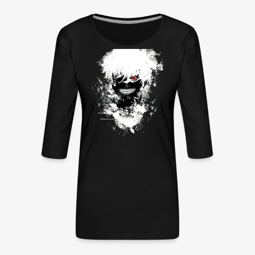 Kaneki Eye Patch - Women's Premium 3/4-Sleeve T-Shirt
