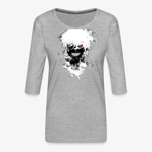 Kaneki Eye Patch - Women's Premium 3/4-Sleeve T-Shirt