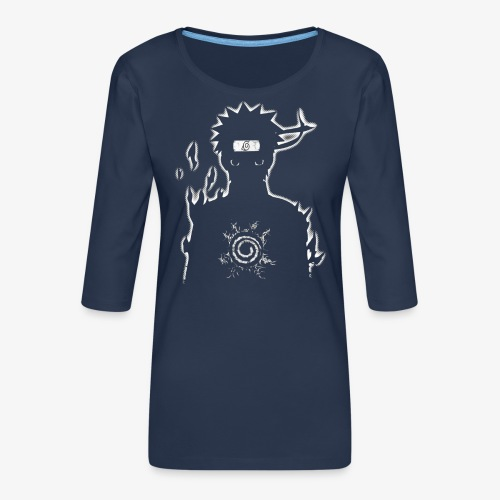 9 Tails Seal - Women's Premium 3/4-Sleeve T-Shirt