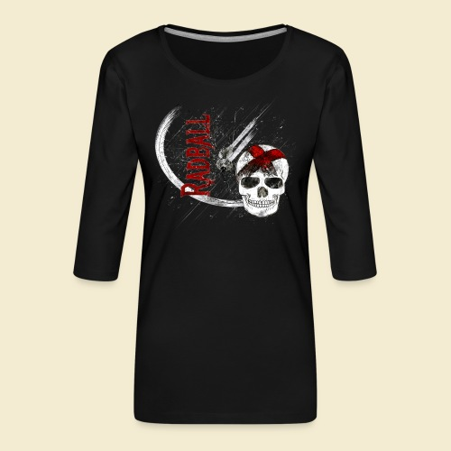 Radball | Cycle Ball Skull - Frauen Premium 3/4-Arm Shirt