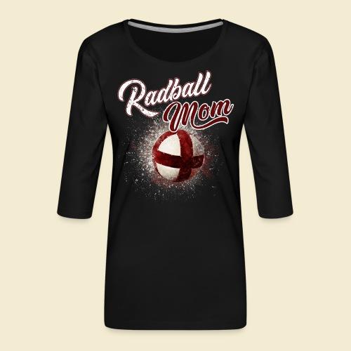 Radball Mom - Frauen Premium 3/4-Arm Shirt