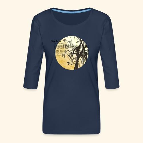 Bamboo - Premium-T-shirt med 3/4-ärm dam