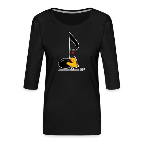 LYD 0001 02 music was my fist love - Frauen Premium 3/4-Arm Shirt