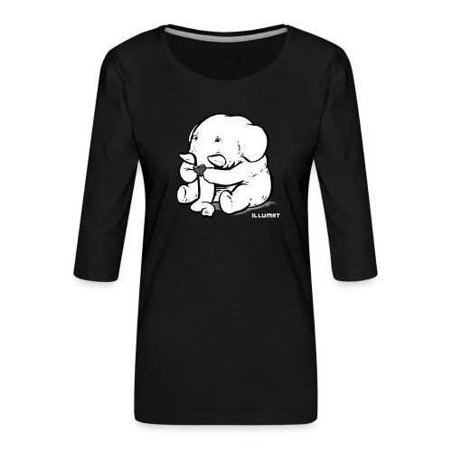 Stef 0002 01 Lesefant - Frauen Premium 3/4-Arm Shirt
