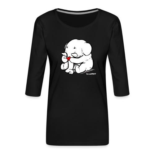 Stef 0002 00 Lesefant - Frauen Premium 3/4-Arm Shirt