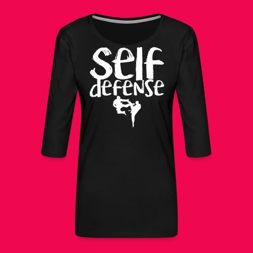 Self Defense 1.0 - Frauen Premium 3/4-Arm Shirt