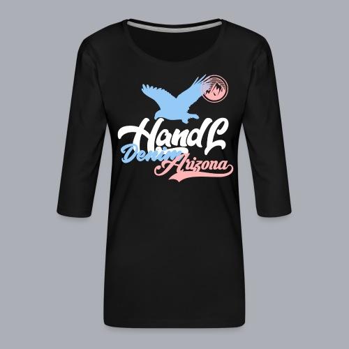 H&L Denim Arizona - T-shirt Premium manches 3/4 Femme