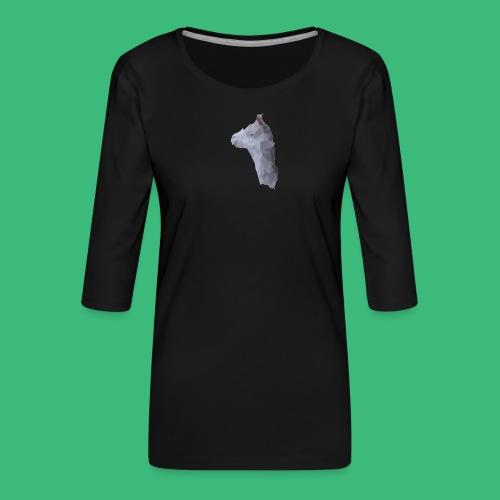 Lama KristalArt / alle kleuren - Vrouwen premium shirt 3/4-mouw