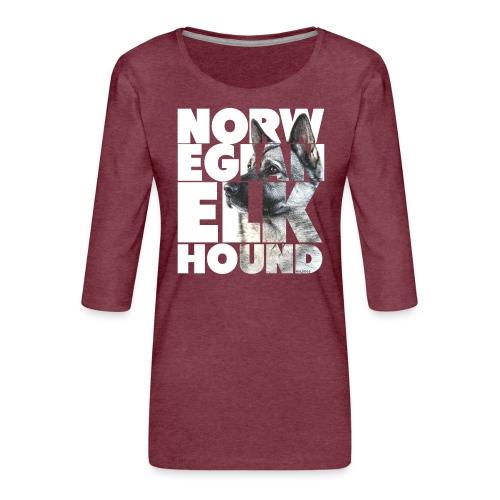 Norwegian Elkhound I - Naisten premium 3/4-hihainen paita