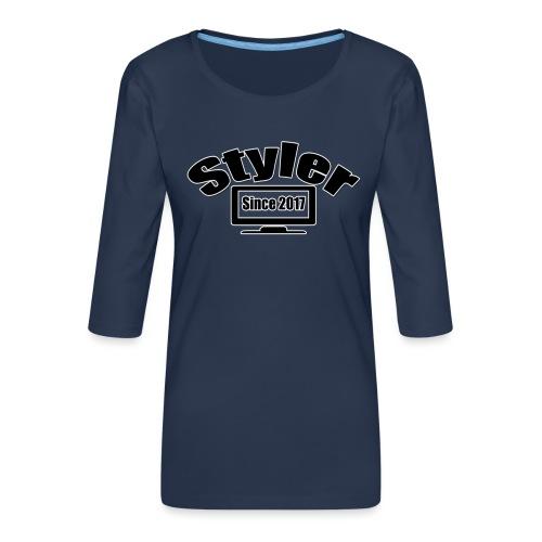 Styler Designer Kleding - Vrouwen premium shirt 3/4-mouw