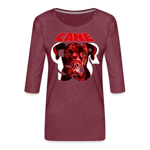 Cane Corso Red - Naisten premium 3/4-hihainen paita