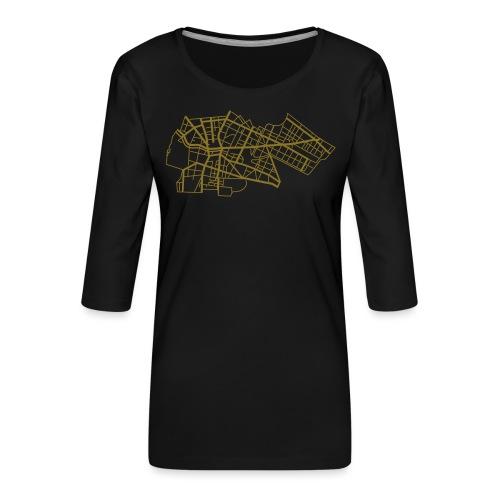 Berlin Kreuzberg - T-shirt Premium manches 3/4 Femme
