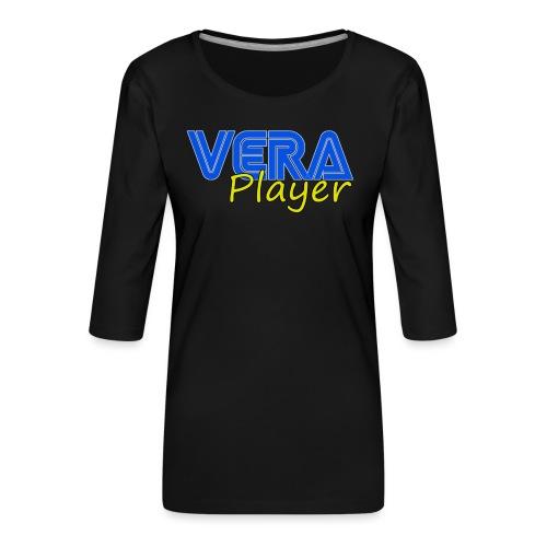 Vera player shop - Camiseta premium de manga 3/4 para mujer