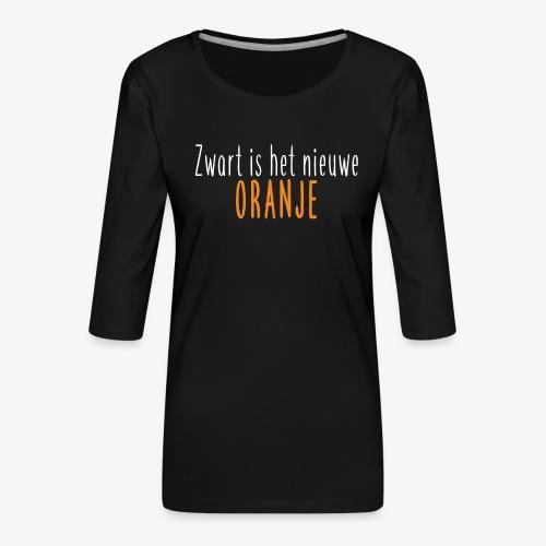 Zwart is het nieuwe oranje - Vrouwen premium shirt 3/4-mouw