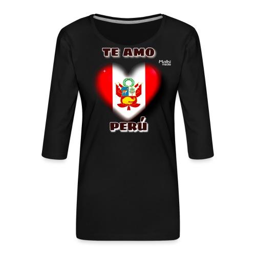 Te Amo Peru Corazon - Frauen Premium 3/4-Arm Shirt