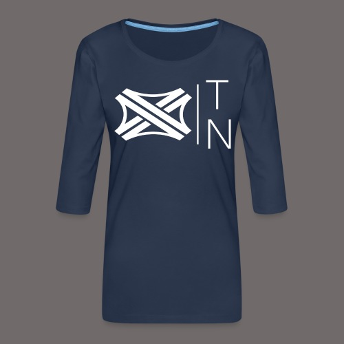 Tregion logo Small - Women's Premium 3/4-Sleeve T-Shirt