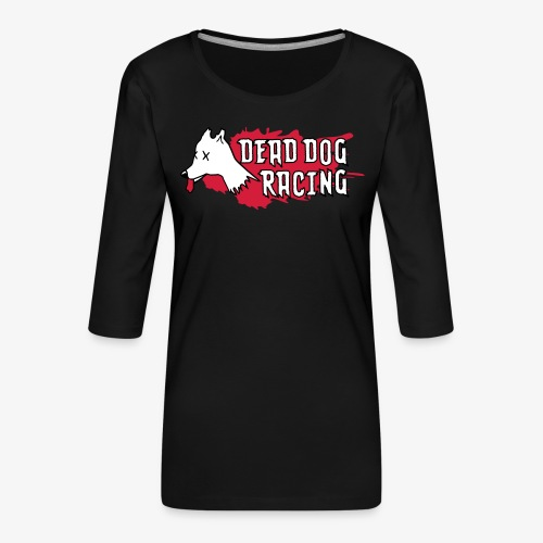 Dead dog racing logo - Women's Premium 3/4-Sleeve T-Shirt