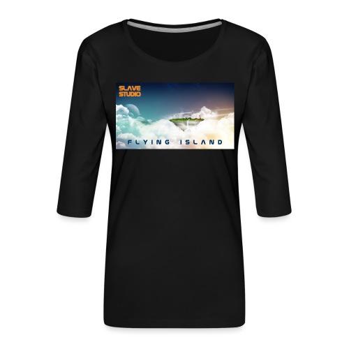 flying island - Maglietta da donna premium con manica a 3/4