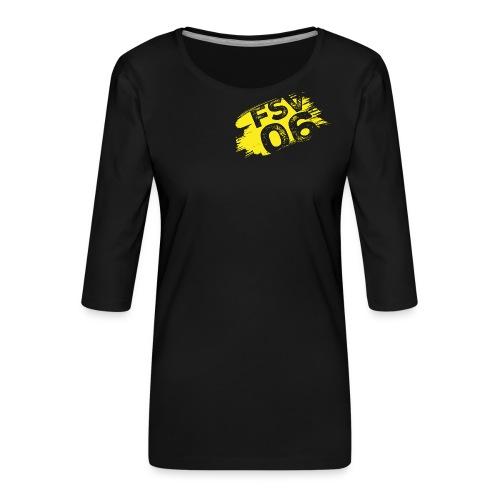 Hildburghausen FSV 06 Graffiti gelb - Frauen Premium 3/4-Arm Shirt