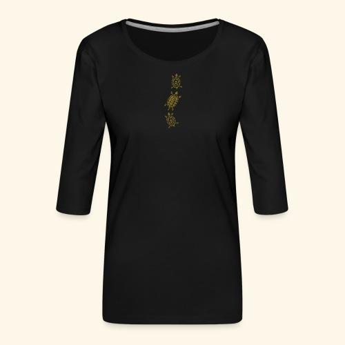 Stein - Schere - Papier Schildkröte - Frauen Premium 3/4-Arm Shirt