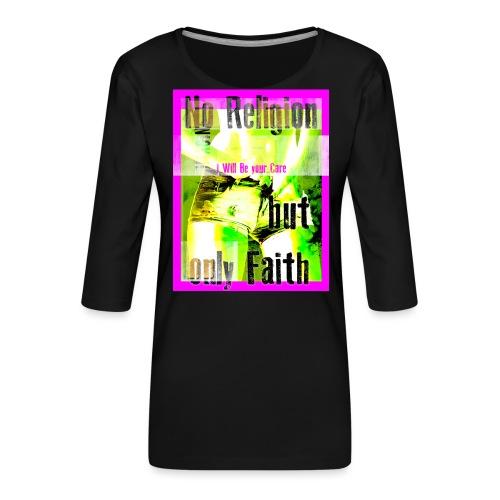 noreligion - Maglietta da donna premium con manica a 3/4