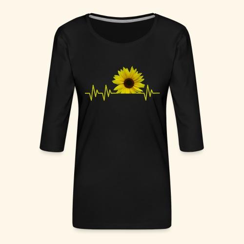 sunflowerbeat - zauberhafte Sonnenblume - Frauen Premium 3/4-Arm Shirt