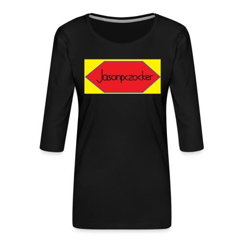 Jasonpczocker Design für gelbe Sachen - Frauen Premium 3/4-Arm Shirt