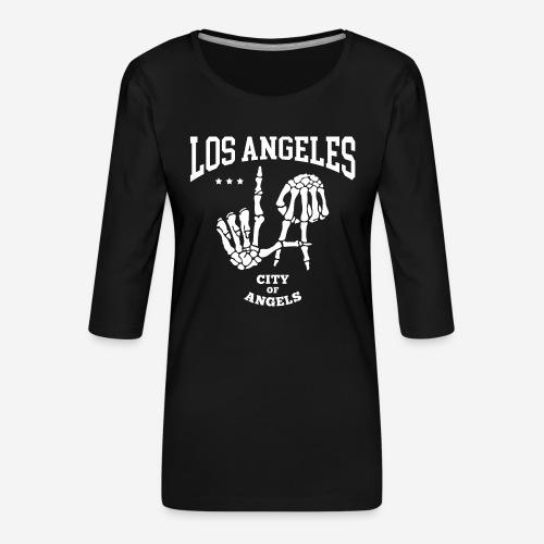 Los Angeles la Stadt der Engel - Frauen Premium 3/4-Arm Shirt