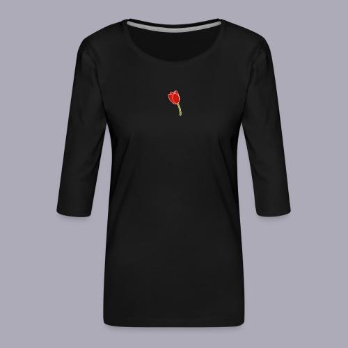 Tulip Logo Design - Women's Premium 3/4-Sleeve T-Shirt