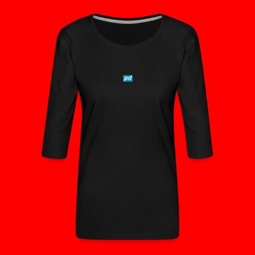 pd Blue - Dame Premium shirt med 3/4-ærmer