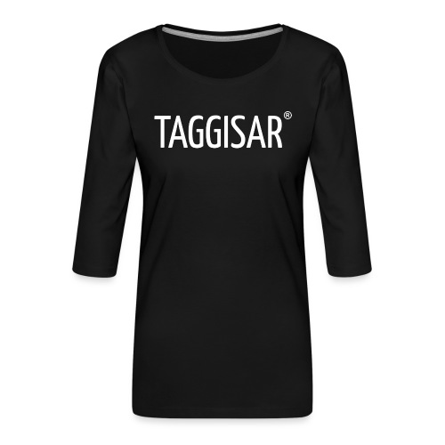 Taggisar Logo - Premium-T-shirt med 3/4-ärm dam
