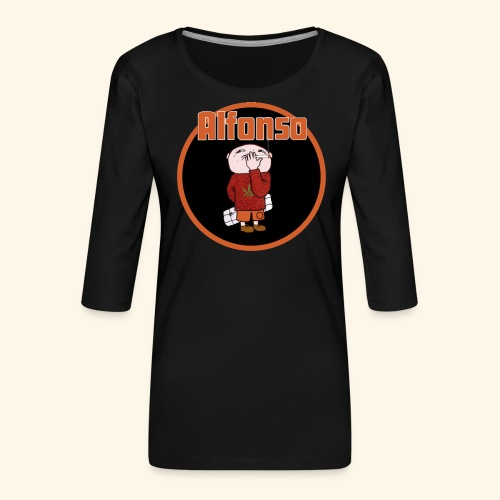 Alfonso - Premium-T-shirt med 3/4-ärm dam