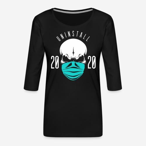 2020 deinstallieren - Frauen Premium 3/4-Arm Shirt
