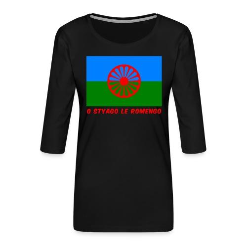 o styago le romengo flag of romani people t-shirt - Maglietta da donna premium con manica a 3/4