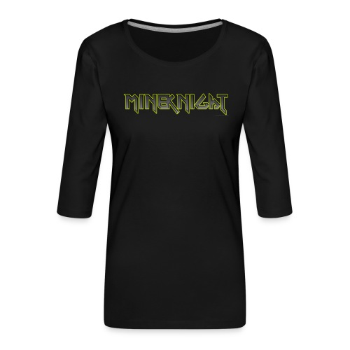 MineKnight mugg - Premium-T-shirt med 3/4-ärm dam