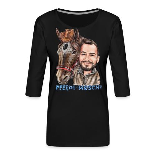 Pferde-Hoschi Kollektion hinten - Frauen Premium 3/4-Arm Shirt