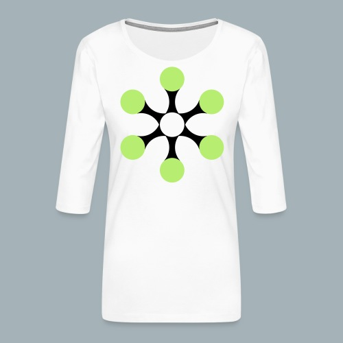 Star Bio T-shirt - Vrouwen premium shirt 3/4-mouw
