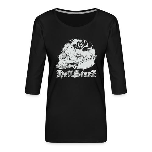 HELLSTARZ Skull Logo - T-shirt Premium manches 3/4 Femme