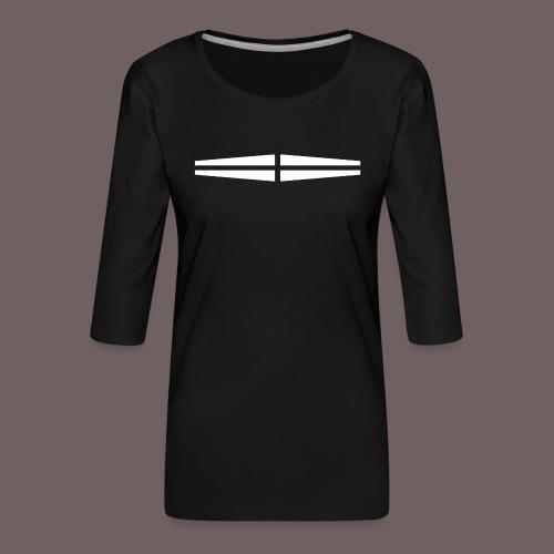 GBIGBO zjebeezjeboo - Rock - Traversant Blanc - T-shirt Premium manches 3/4 Femme