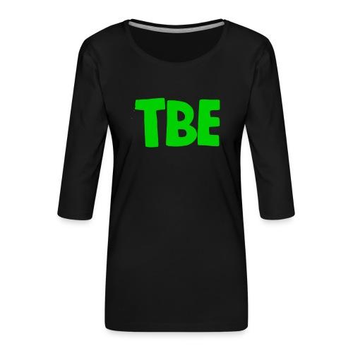 Logo groen - Vrouwen premium shirt 3/4-mouw