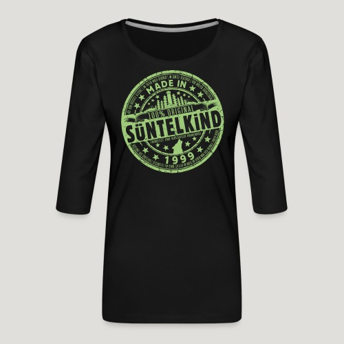 SÜNTELKIND 1999 - Das Süntel Shirt mit Süntelturm - Frauen Premium 3/4-Arm Shirt