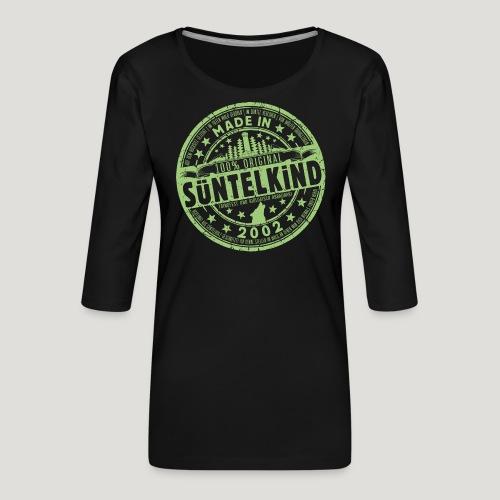 SÜNTELKIND 2002 - Das Süntel Shirt mit Süntelturm - Frauen Premium 3/4-Arm Shirt