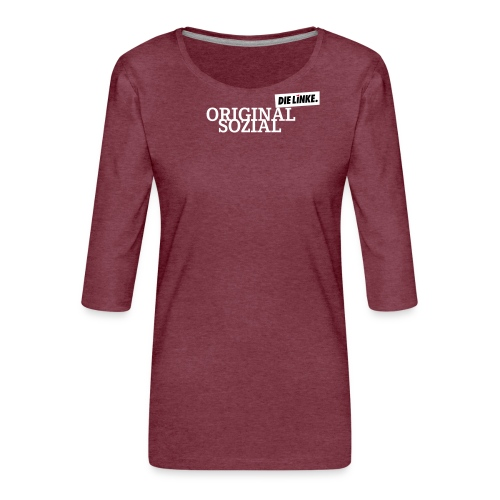 Schriftzug_original - Frauen Premium 3/4-Arm Shirt