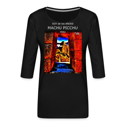 SOY de los ANDES - Machu Picchu II - Women's Premium 3/4-Sleeve T-Shirt